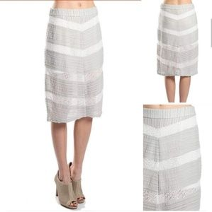 Lace and grey Chevron skirt